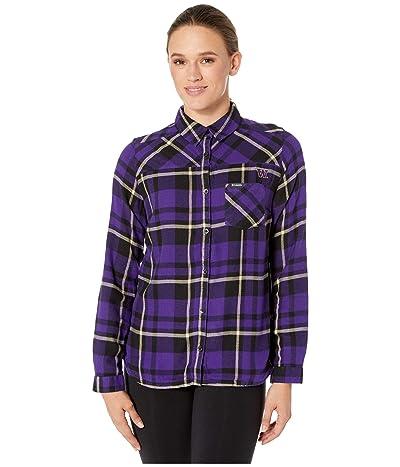Columbia College Washington Huskies Flare Guntm Shirt (Purple) Women