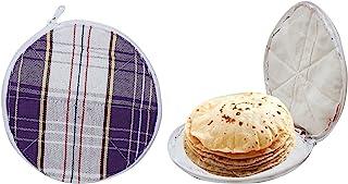 Amazin Homes Cotton Roti Cover Chapati Covers Roti Rumal Washable Cloth Basket Keep Chapati Fresh & Soft for Longer Time S...