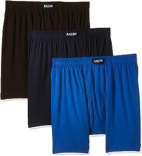 MACHO Men's Inner Elastic Cotton Trunks (Pack of Three), XXX-Large, Multicolour