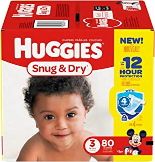 Huggies Snug and Dry Diapers - Size 3-80 ct