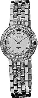 Akribos XXIV Women's AK598SS Impeccable Diamond Swiss Quartz Bracelet Watch