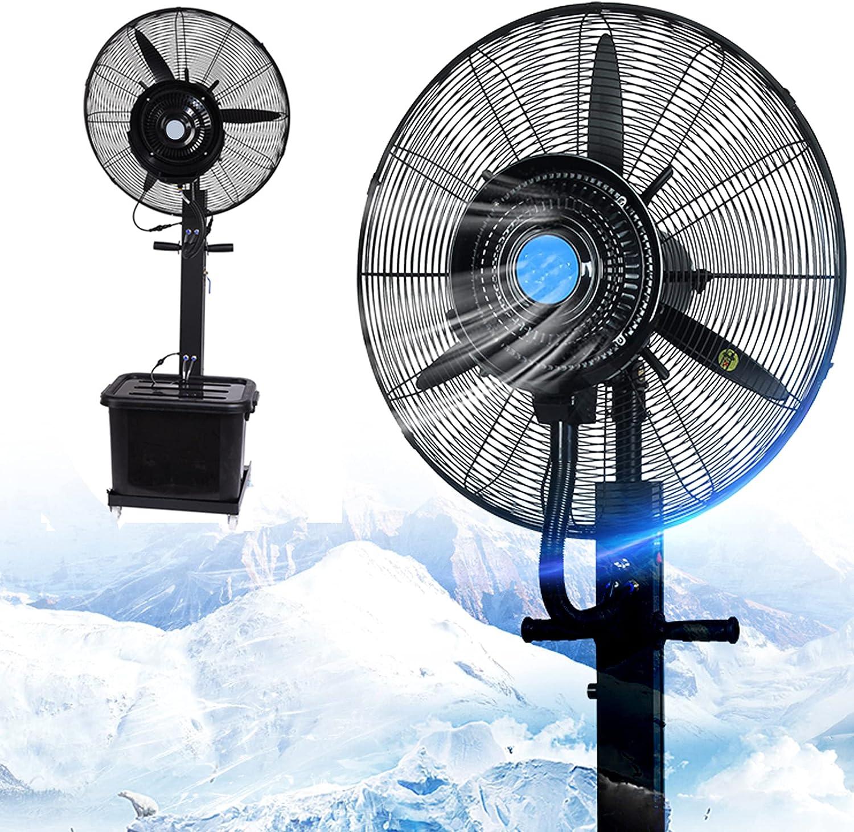 73HA73 Ventilador Oscilante Nebulización Exterior Sistema de Enfriamiento Velocidad Aire Acondicionado Herramientas de Riego Resistentes al Polvo para Lugares de Trabajo Restaurantes Patios