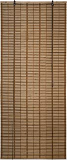 ALEKO BBL32X72BR Light Brown Bamboo Roman Wooden Indoor Roll Up Window Blinds Light Filtering Shades Privacy Drape 32 X 72 Inches