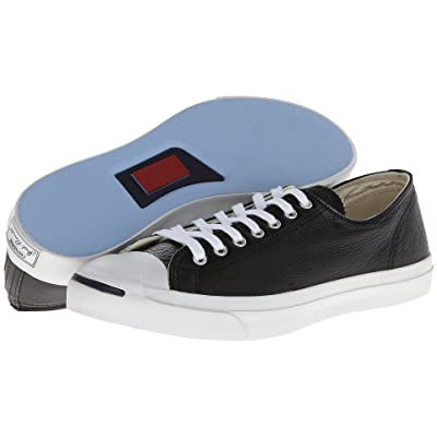Converse Jack Purcell(r) Leather (Black/White) Classic Shoes