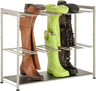 Honey-Can-Do SHO-02812 6-Pair Boot Rack, 27.5