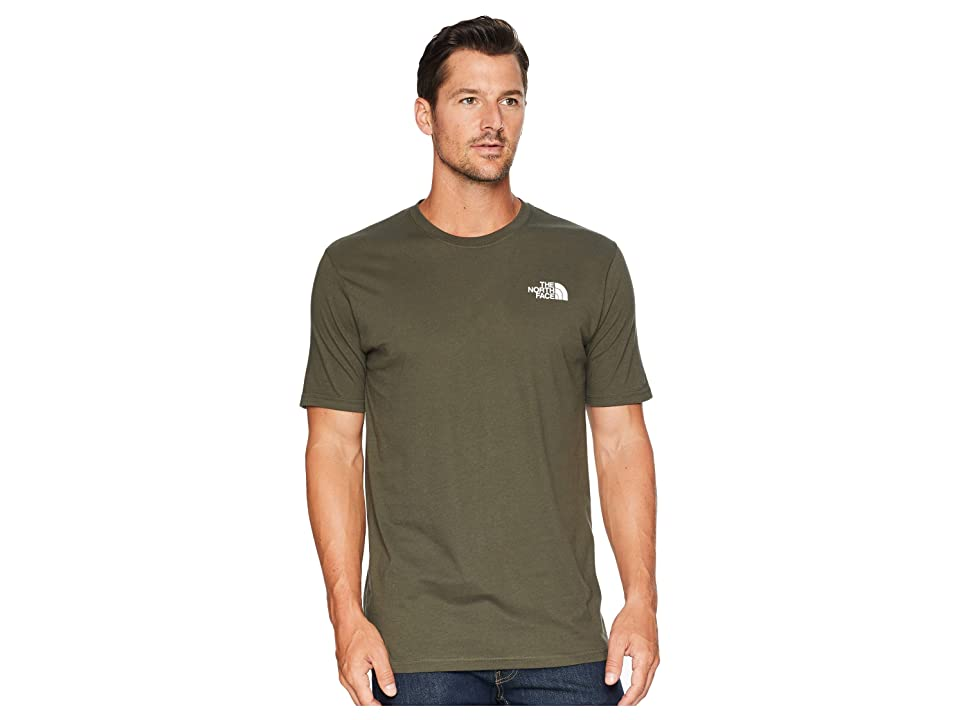 The North Face Short Sleeve Red Box Tee (New Taupe Green/TNF Black) Men