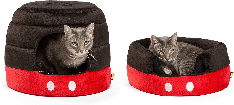 Disney Mickey Mouse Pants 2in1 Honeycomb Hut Cuddler, Black Red, Standard Medium