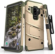ZIZO Bolt Series Samsung Galaxy S9 Plus Case Military Grade Drop Tested with Tempered Glass Screen Protector Holster TAN CAMO Green