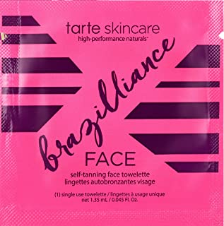 Tarte Brazilliance Self Tanning Face Wipe - 1 Single Use Towelette