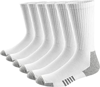 Hombre Mujer Cómodos y Transpirables Calcetines de deporte Acolchados Performance Crew Socks 6 Pares