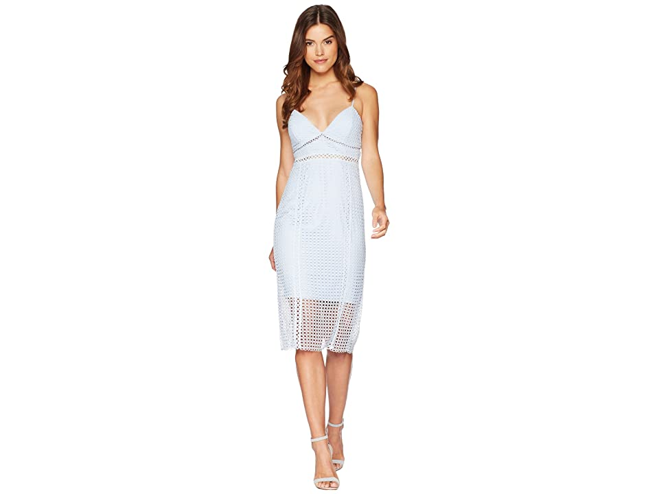 Bardot Circle Lace Dress (Steel Blue) Women