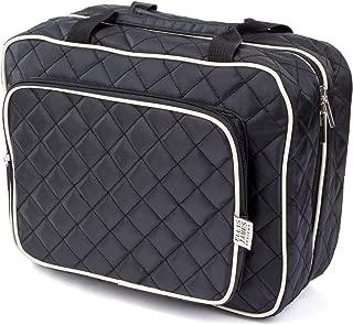 Ellis James Designs Large Travel Toiletry Bag for Women with Hanging Hook, Black, Big Wash Bags - Hair Dryer Case - Multi-use Toiletries Kit Cosmetics Makeup XL Bathroom Organizer Suitcase Luggage