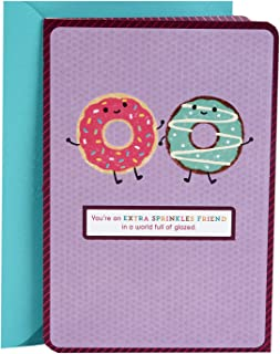 Hallmark Thank You Card, Birthday Card, Thinking of You Card, Friendship Card (Glad We're Friends Donuts)