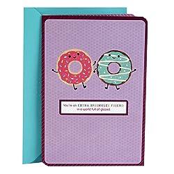 Hallmark Thank You Card, Birthday Card, Thinking of You Card, Friendship Card (Glad We're Friends Do