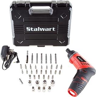 Stalwart 75-PT1002 3.6V Lithium Ion Dual Position Cordless Screwdriver Set,