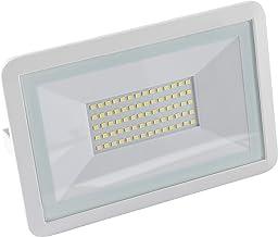 Meister LED-buitenspot wit 50 Watt 4000 lumen stabiele aluminium behuizing voor vaste installatie op huismuren IP65 straal...
