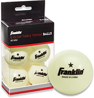 Franklin Sports 1 Star GID Table Tennis Balls (Pack of 6), 40 mm