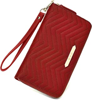 Womens Leather Wallet Card Holder - U+U Cellphone Clutch Ladies Purse with Card Slots (2019 New Design)
