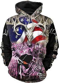Chiclook Cool Love Horse Hoodie Sweatshirt Mens Womens Streetwear