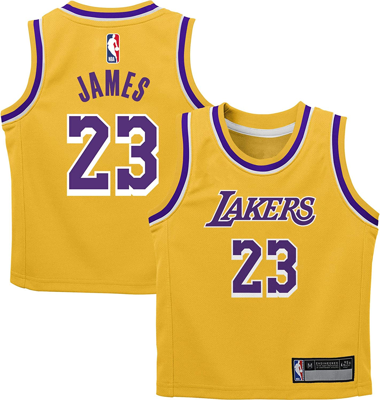 Amazon.com : Outerstuff Lebron James Los Angeles Lakers #23 Kids 4 ...