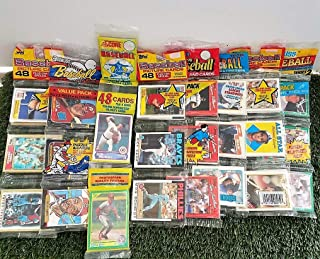 Over 240 Vintage Baseball cards in 6 Rare Factory Sealed RAC Packs from various brands from the 80`s & 90`s. Guaranteed one AUTOGRAPH or MEMORABILIA card per box! Great for 1st time collectors!
