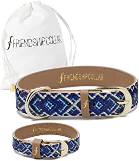FriendshipCollar Dog or Cat Collar and Matching Bracelet Set - The Mucky Pup - Water & Scratch Resistant!