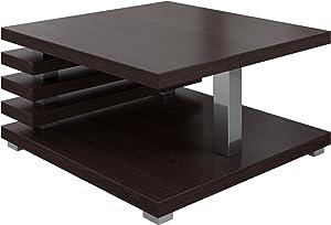 Tavolino Da Caffè Tavolino Da Salotto Tavolo Oslo 60 x 60 CM Rovere Scuro Wenge