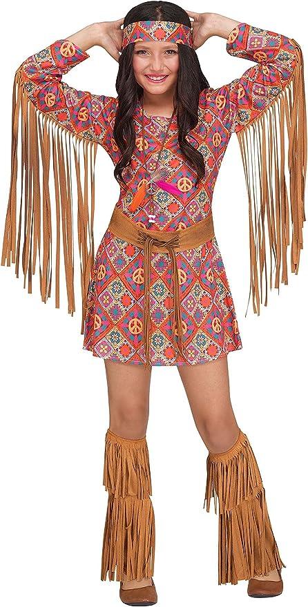 60s 70s Kids Costumes & Clothing Girls & Boys Fun World Girls Free Spirit Costume  AT vintagedancer.com