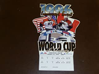 1996 FIRST YEAR WORLD CUP OF HOCKEY TEAM USA VS TEAM CANADA FULL TICKET GRETZKY