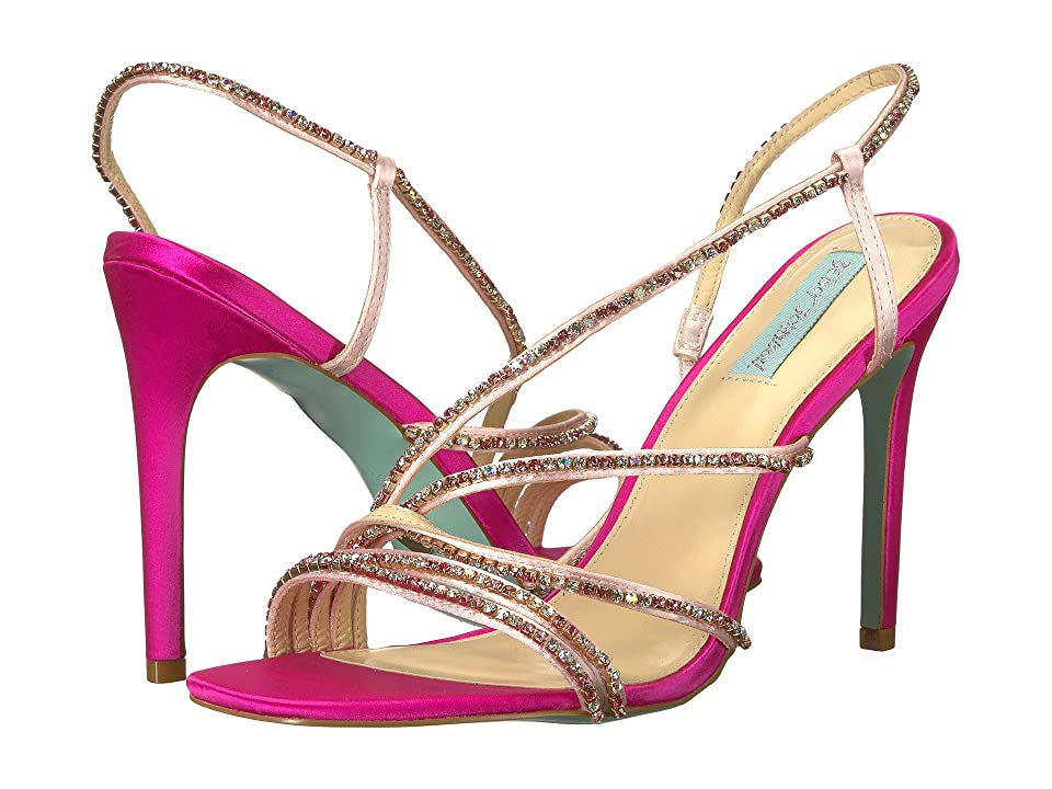 Blue by Betsey Johnson Aces (Fuchsia Satin) High Heels