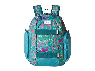 Burton Kids Youth Metalhead Pack (Green/Blue Slate Morse Geo Print) Backpack Bags