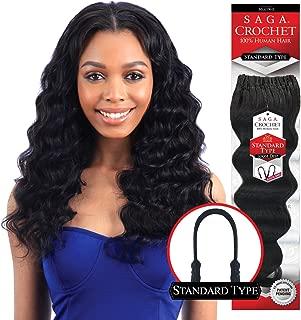 MULTI-PACK DEALS! Saga Human Hair Crochet Braids Standard Type Loose Deep With FREE GIFT (14
