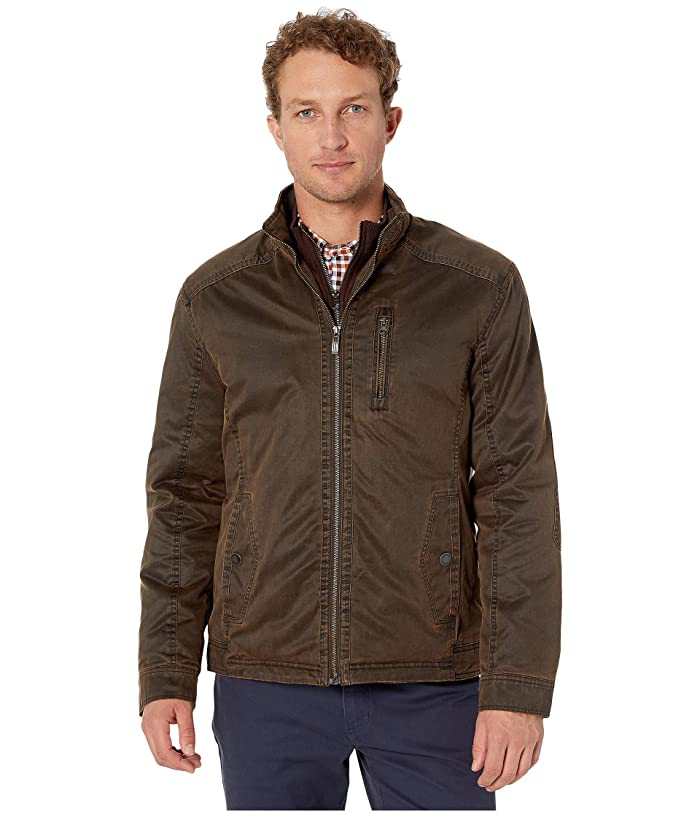 Johnston and Murphy  Antique Cotton Jacket (Brown) Mens Clothing