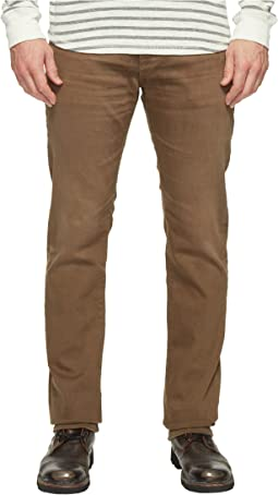 AG Adriano Goldschmied Matchbox Slim Straight Leg Denim in 2 Years Forest Brown