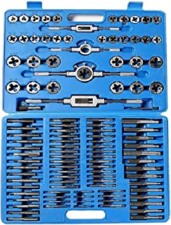 Automotive Tool Kit, Vithconl 110 Pc Tool Hub 9162 Tap and Die Metric Set Engineers Kit Screw Bolt Cutter Case (Ship from US)