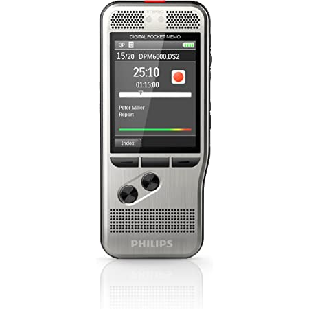 Philips DPM6000 Digital Pocket Memo Voice Recorder with Push Button Operation