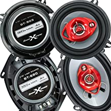 "$59 » Sponsored Ad - 2X Soundxtreme ST-680 5x7 / 6x8 4-Ohm 3-Way 350 Watts Coaxial Car Speakers and 2X SoundXtreme ST-503 5.25"" ..."