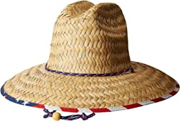 San Diego Hat Company - Straw Lifeguard w/ Under Brim Print