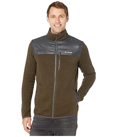 Columbia Canyon Pointtm Sweater Fleece Full Zip (Olive Green/Shark) Men