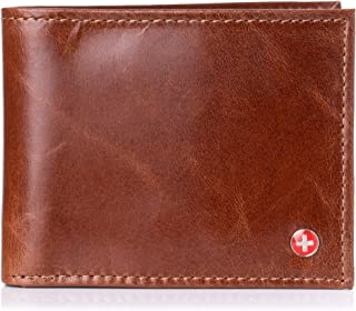 Mens Multi-Card Compact Center Flip Bifold Wallet