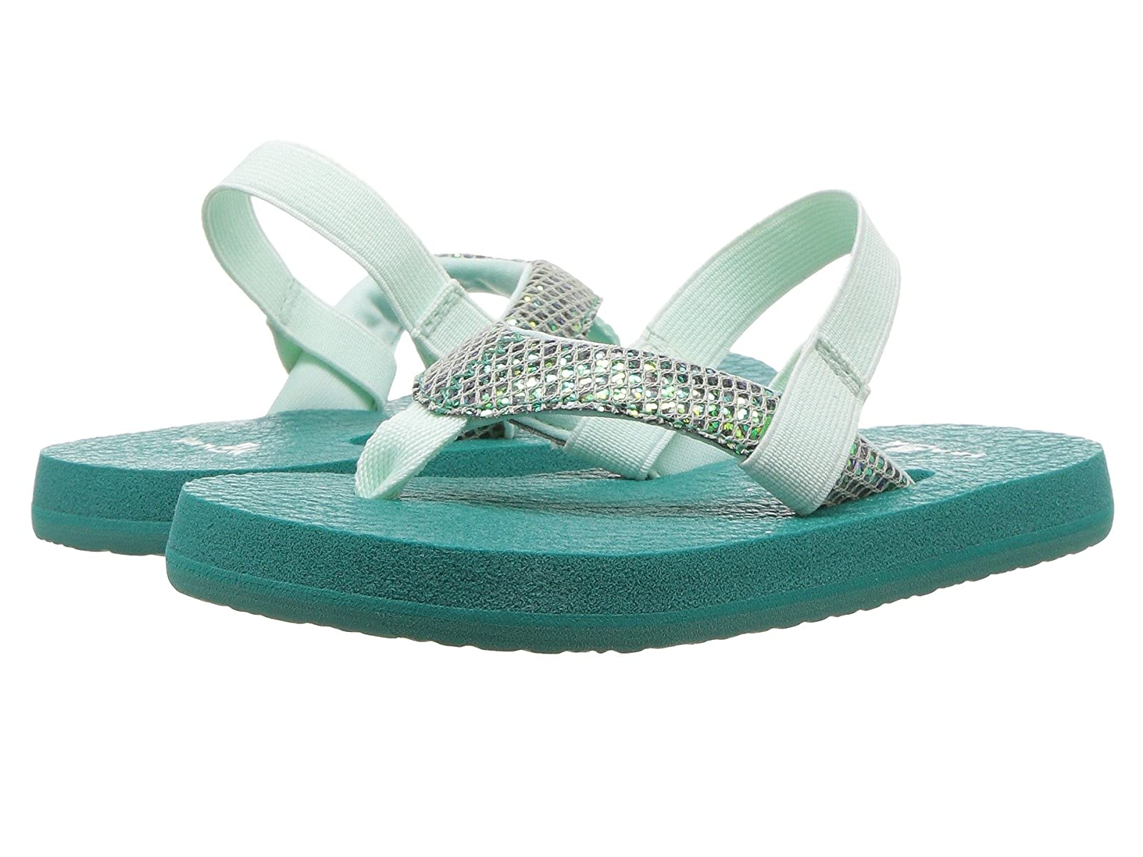 Sanuk Kids Yoga Glitter (Toddler/Little Kid)Atmospheric grades have affordable shoes