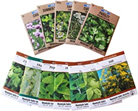 Assortment of 12 Culinary Herb Seeds - Non-GMO | Grow Cooking Herbs: Parsley, Thyme, Cilantro, Basil, Dill, Oregano, Sage & More