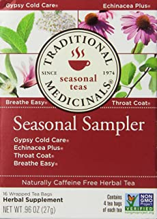 Traditional Medicinals Seasonal Tea Sampler Variety Pack 16 ea