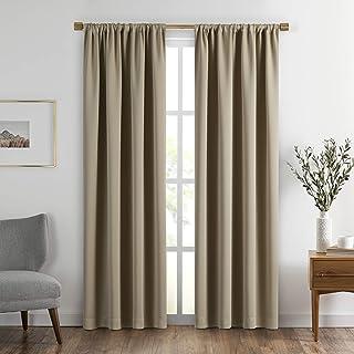 "Elrene SunVeil Vanderbilt Extra Wide Blackout Window Curtain Panel, 52"" x 84"" (1, Natural"