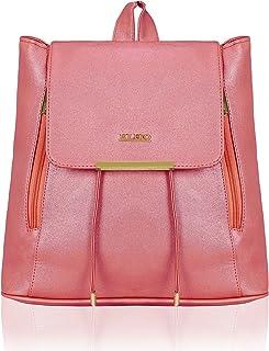 Kleio Stylish Trendy Metallic PU College Backpack for Travel For Women/Girls