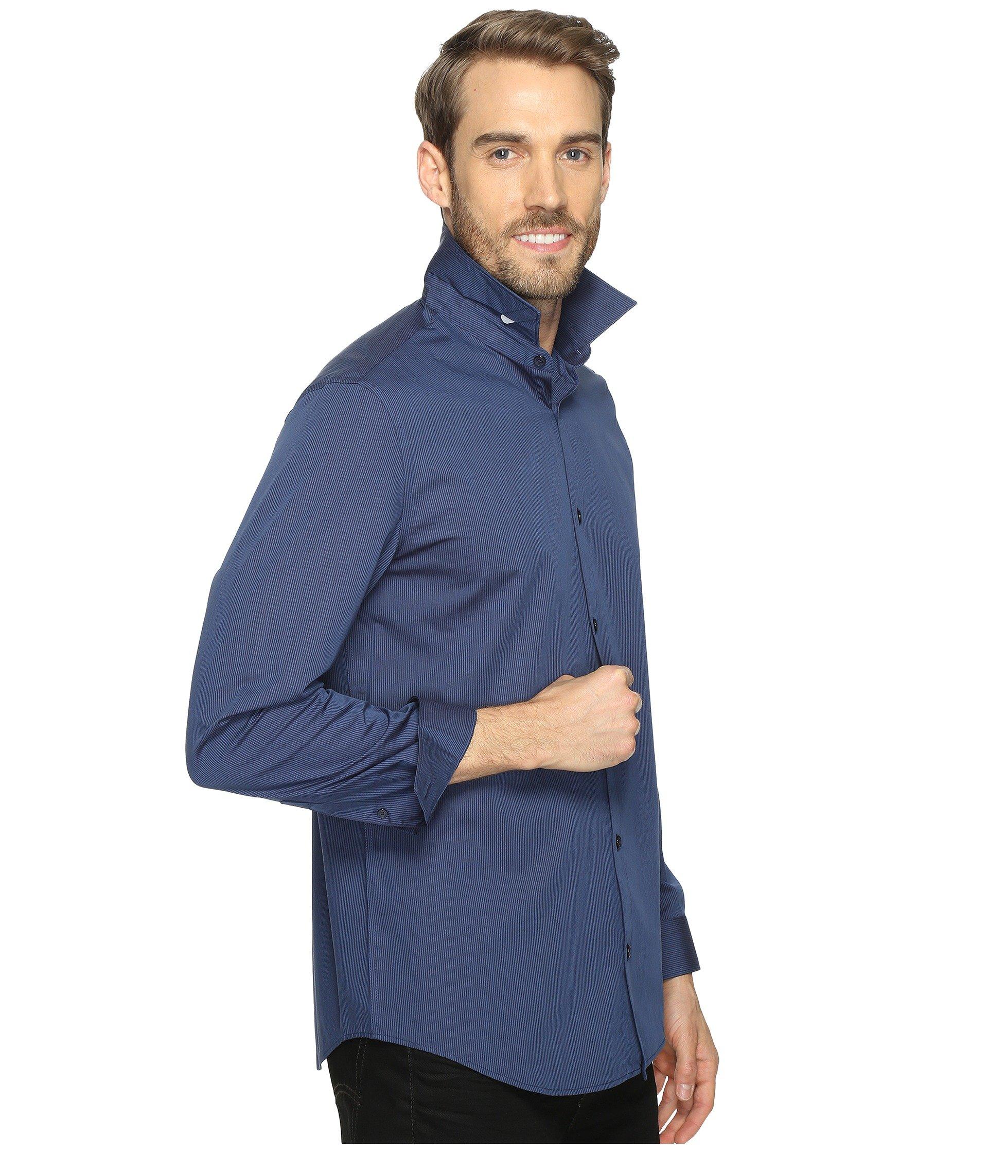 Sleeve Klein Stripe Long Shirt Infinite Calvin Cool Button Down Atlantis 0E6x0nO