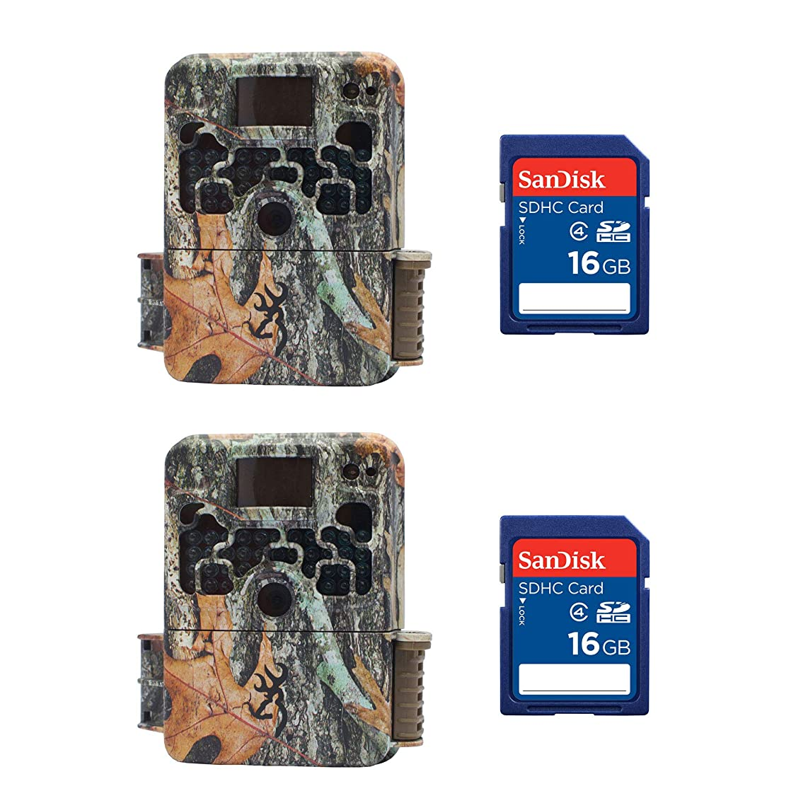 Browning Strike Force 850 Extreme Trail Camera (2 Pack) + 16GB SD Card (2 Pack)