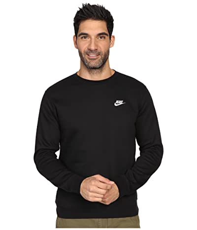 Nike Club Fleece Pullover Crew (Black/White) Men