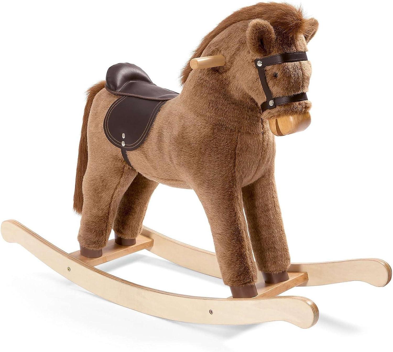 nueva marca Mamas & & & Papas Chestnut caballo balancín de peluche  punto de venta de la marca