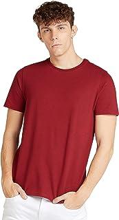 Iconic Men's 2300510 POPCORN TEE Cotton T-Shirt, Orange